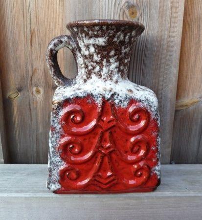 Sjelden herlig retro 60/70-talls vase i keramikk.