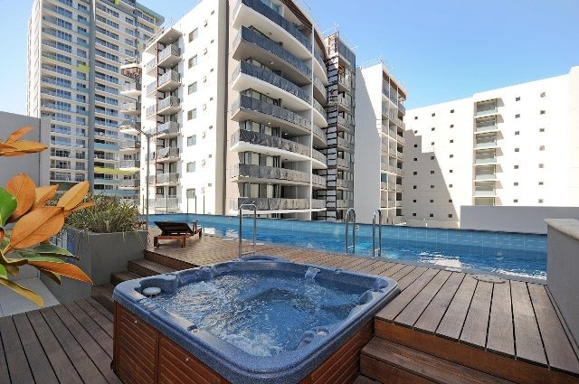 Relax with a spa and panoramic city views with this fully-furnished Perth CBD apartment.  Available for lease with Harcourts Central now: http://central.harcourts.com.au/Property/559759/WHC8796/84-151-Adelaide-Terrace