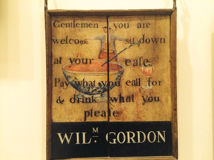 "CT His Soc  William Gordon's in New London, Connecticut generously invited ""gentlemen"" to ""sit down at your ease""—""Pay what you call for & drink what you please."""