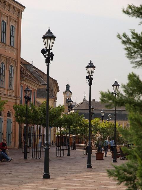 Szechenyi square, Esztergom, Hungary