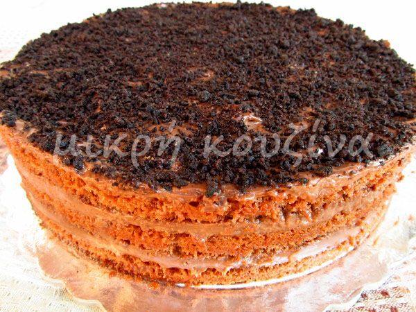 μικρή κουζίνα: Εύκολη τούρτα σοκολάτα