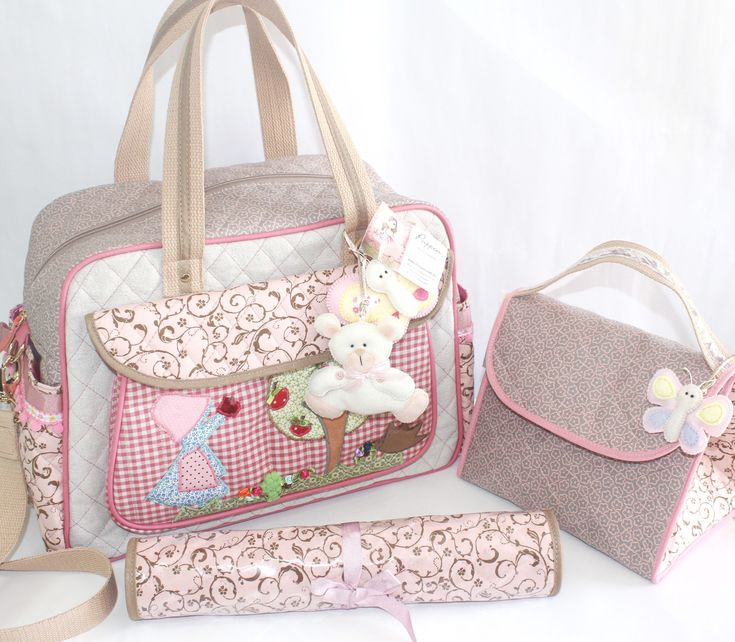 Bolsa Maternidade artesanal personalizada. www.puppen.com.br