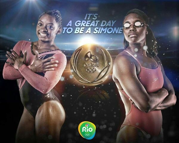 Simone Biles & Simone Manuel  ... Rio2016