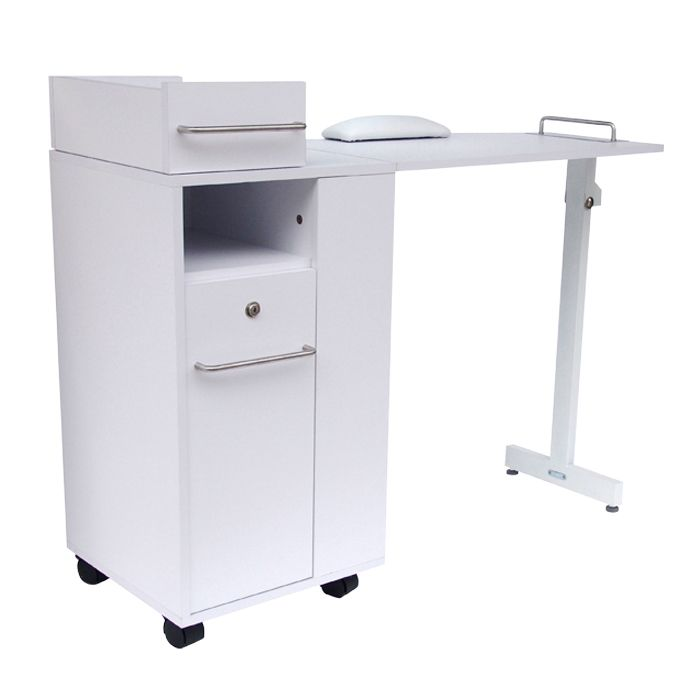 Glammar dallas manicure station is great for any salon for Long manicure table