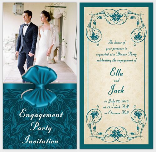 elegant engagement party ideas card