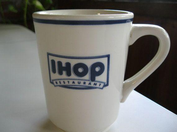 IHOP Mug Cup, International House Of Pancakes Mug Cup,  Vintage Restaurant Coffee Cup