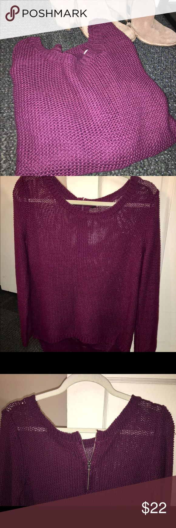 Sweater with a zipper on the back Comfy cute and a little sexy! The zipper is movable. I moved it down to show that it can move!! Pair this baby with ripped jeans and booties or if you're going for a more laid back look, leggings and warm winter boots! Offers welcome XO American Apparel Sweaters