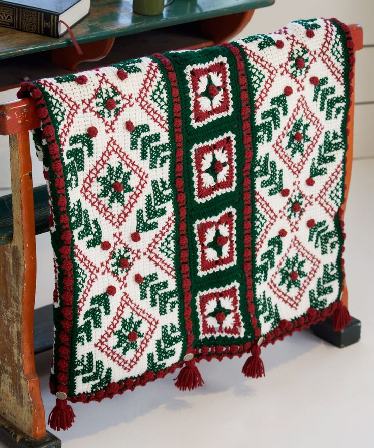 65 Best Free Christmas Crochetknit Afghan Pillow Tree Skirt