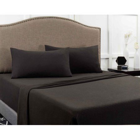 Fade Double-Side Brushed Finish Wrinkle Lullabi Bedding Microfiber Twin, Black Stain Resistant One Fitted Bed Sheet