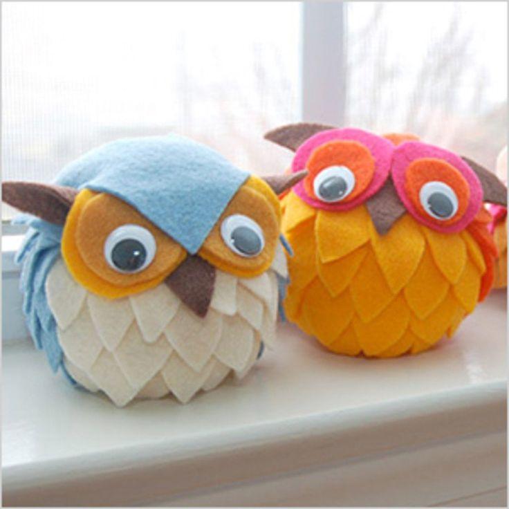DIY Styrofoam owl Craft