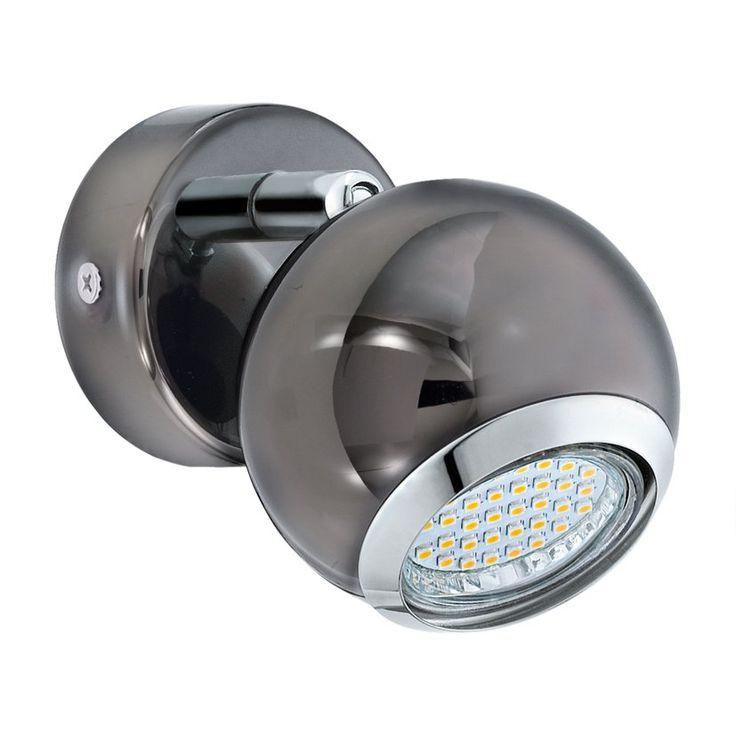 Kinkiet Eglo Bimeda 2,5W LED GU10 czarny/chrom 31005 #led #kinkiet #eglo #gu10 #lampa