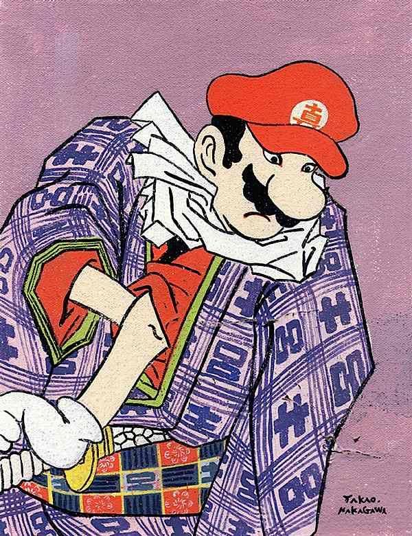 Mario - Japanese Ukiyoe Character Series