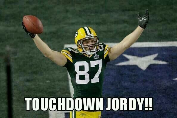 touchdown for jordy nelson packers pinterest