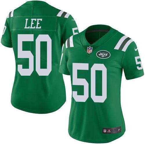 Women's Nike New York Jets #50 Darron Lee Limited Green Rush NFL Jersey