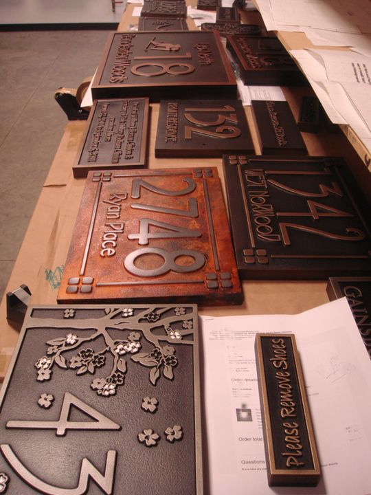 """Atlas Signs and Plaques exclusively uses Precision Board Plus PBLT-30 HDU to create custom metal-coated signs and plaques for home, business, and gifts. In addition to the most unique designs on the planet, the signs offer the look and luster of foundry castings at a fraction of the price. Owner Janey Freid says. """"Atlas Signs …"""