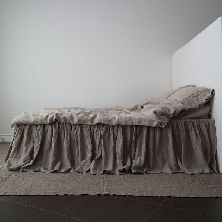 LINEN BED SKIRT dust ruffle. Linen bedskirt. Handmade by MOOshop.*20 by mooshop on Etsy https://www.etsy.com/listing/278552434/linen-bed-skirt-dust-ruffle-linen