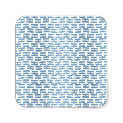 Argentinian flag tiled pattern square sticker - sticker stickers custom unique cool diy