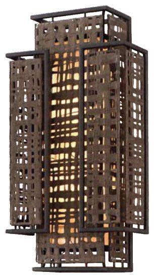 Corbett 10511 Shoji Small Two Light Asian Wall Sconce   COR 10511