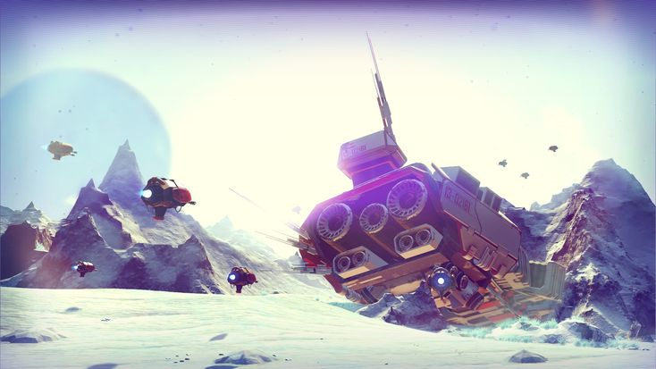 No Man's Sky is a game about exploration and survival in an infinite procedurally generated galaxy. A truly open universe Whether a distant mountain or a planet hanging low on the horizon, you can ...