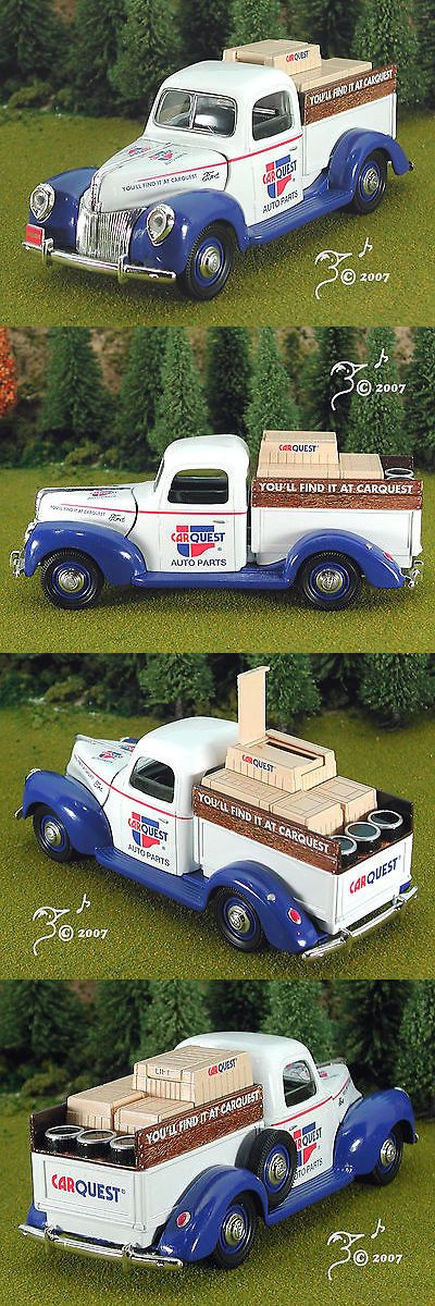 Scenery and Trees 80981: Die Cast Carquest 1940 Ford Parts Pickup G Scale 1:25 By Speccast 40 Ford -> BUY IT NOW ONLY: $39.95 on eBay!