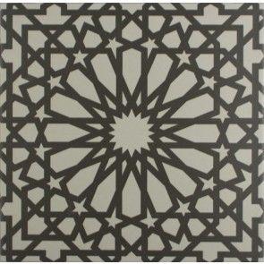 Serious statement floor tiles > Marrakech Bellisa Silver Pattern Floor Tile