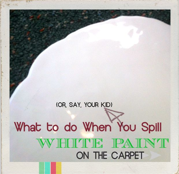 how to clean latex paint out of carpet