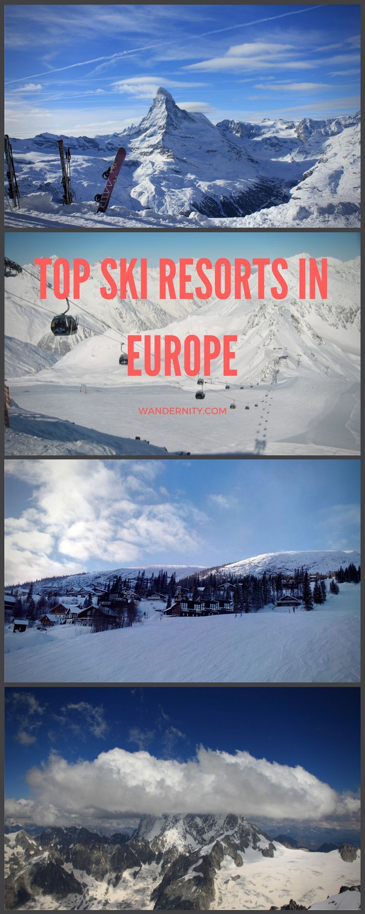 Winter in Europe is marvelous with the white snow, gorgeous mountains and exciting winter sports options. The biggest and best ski resorts offer a variety of slopes both for beginners and experienced skiers. Europeans are keen on keeping active during the winters and going on skiing holidays together with their families. Below is a guide to 5 top ski and snowboard resorts across Europe.