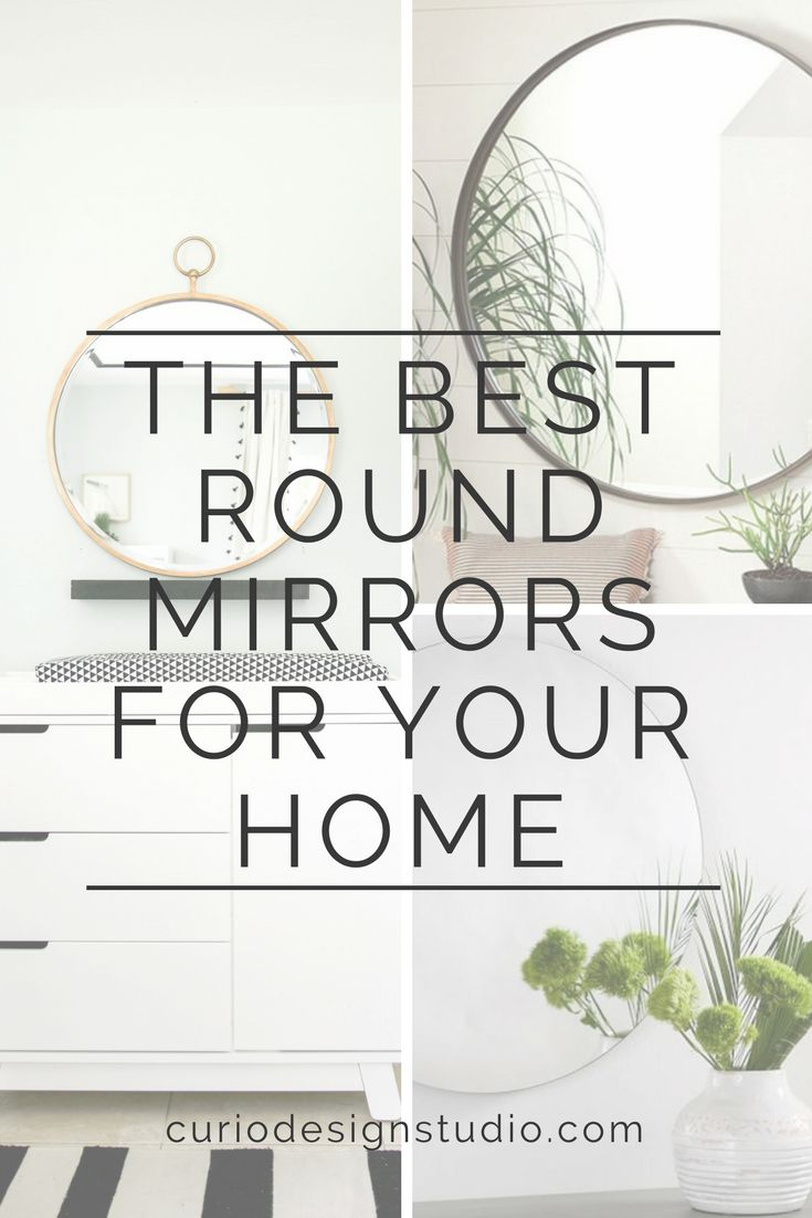Round mirrors are one of our favorite design elements lately. They can help fill a space, add reflective light not to mention this round shape is right on trend!  #roundmirror #mirror #homedecortrends #design #interiordesignideas