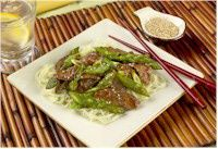 California Asparagus and Lamb Stir-fry
