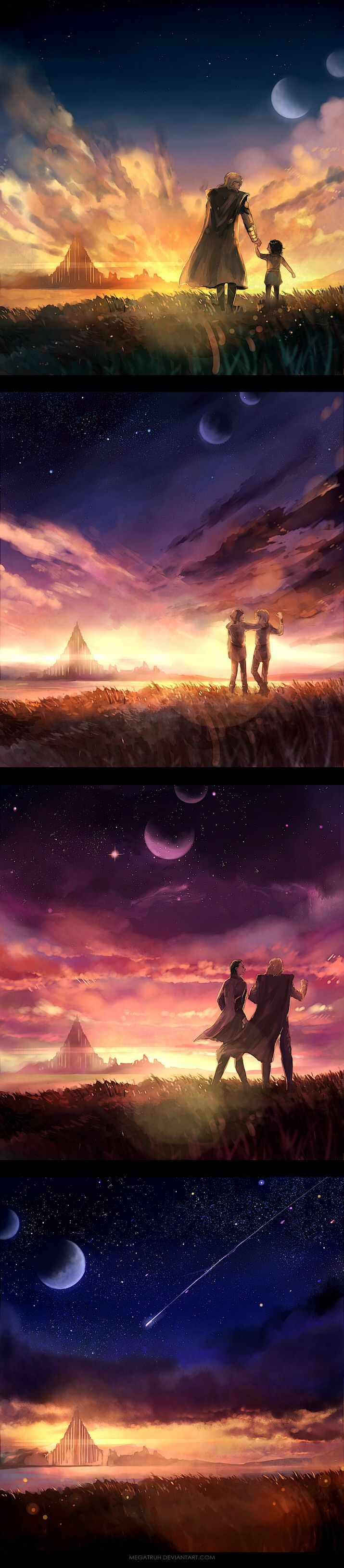 nostalgia for the light , by *megatruh on deviantART. Thor and Loki