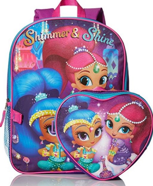 Amazon: Nickelodeon Girls' Shimmer and Shine Backpack with Lunch Kit ONLY $9.65