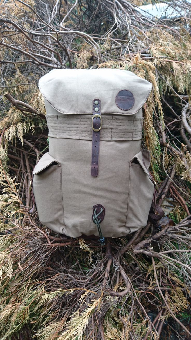 The Bushcraft 28l pack canvas backpack / Hiking Backpack / Scout backpack / Vintage Backpack Rucksack by ReefKnotBags on Etsy