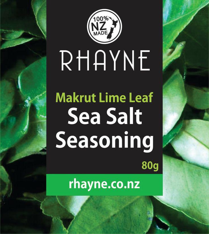 Makrut Lime Leaf Sea Salt by rhaynespice on Etsy