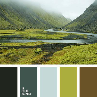 коричнево-зеленые оттенки, насыщенный зеленый, оттенки зеленого, оттенки осени, оттенки рыже-коричневого, светло-зеленый, серо-зеленые тона, тёмно-зелёный, цвет мха, цвет осеннего леса, цвет тумана, цвета туманного леса.