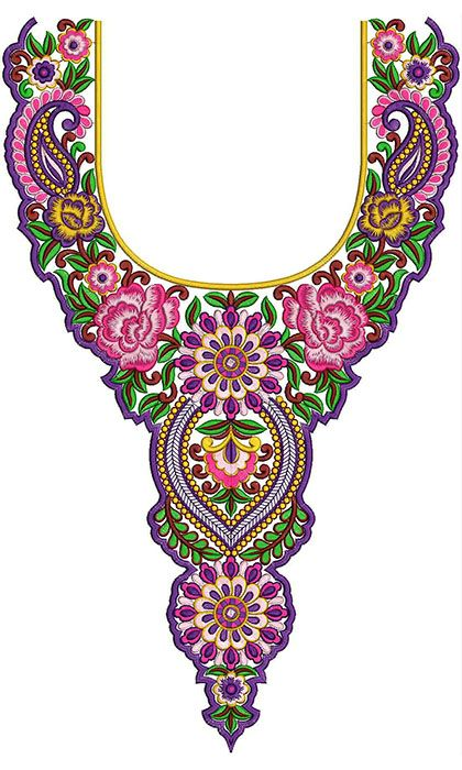 Pakistani Designer Salwar Kameez Neck