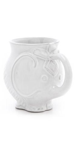 Elephant mug elephant obsession pinterest jonathan adler paint brushes and too cute - Jonathan adler elephant mug ...