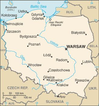 A wonderful map of Poland.