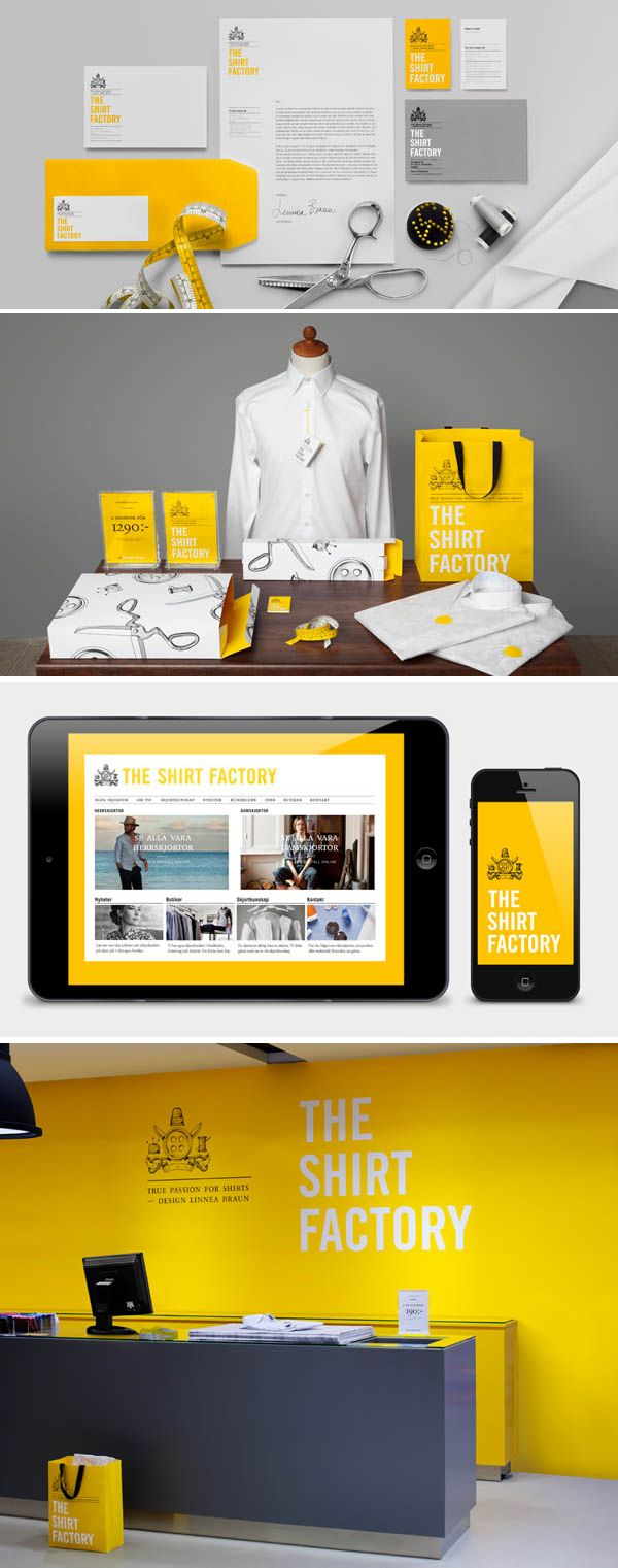 The Shirt Factory print, web and environmental branding identity Make it inspiration for web banner for the company