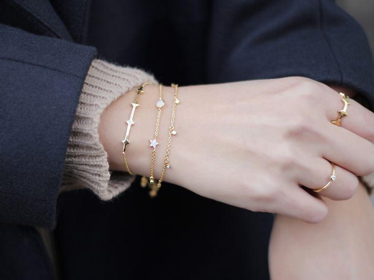 Missoma 18Ct Gold Vermeil Pave Cosmic Drop Bracelet