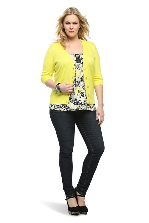 This Yellow Deep V-Neck Cardigan is topping our #musthave list right now, for sure.