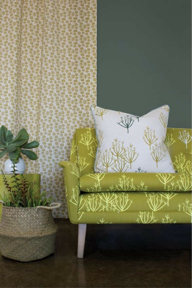Living room inspo | upholstered chair in succulent print via the talented Design Team | visit www.wishtank.co.za for more home décor ideas and inspiration ♥