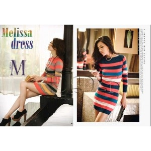 Jual Dress bahan rajut dengan banyak pilihan warna yang unik.