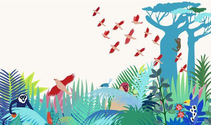 Les papiers peints les plus inspirants pour une chambre d'enfant / Papier peint Manja (Little Cabari)