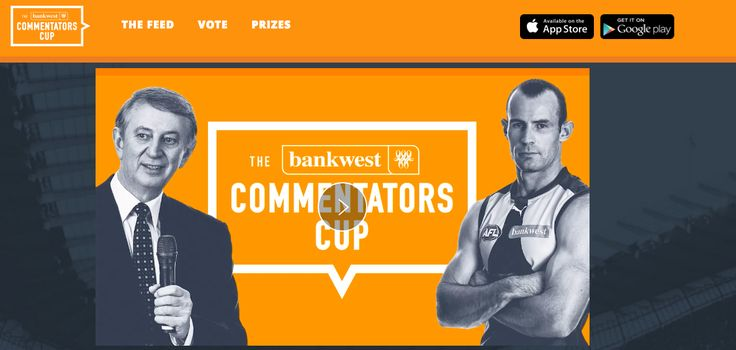 Shout your way to glory! Commentate the greatest West Coast Eagles' plays with The Bankwest Commentators Cup App. https://www.commentatorscup.com.au/