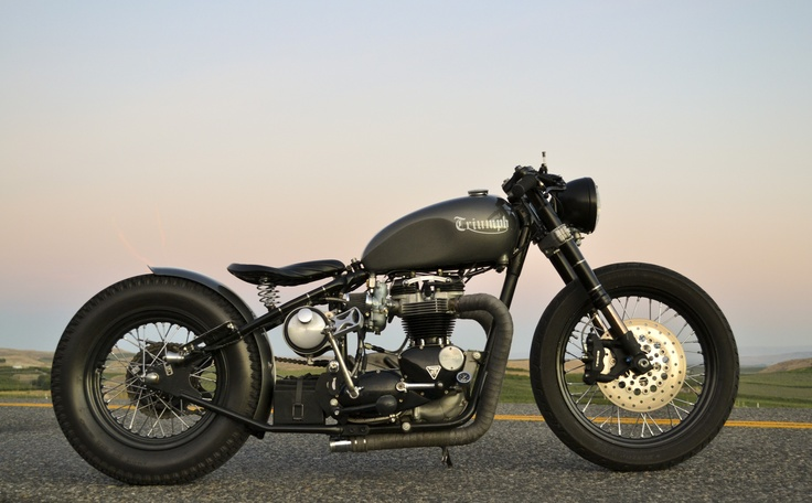 Mitch Sander's garage built 1966 Triumph Motorcycles Bonneville 650 Hardtail with a