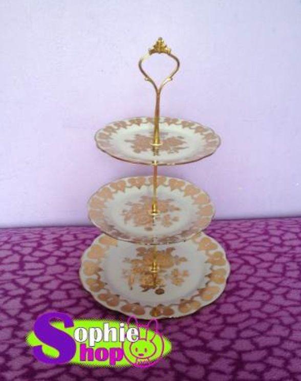 Stand porta cupcake de porcelana