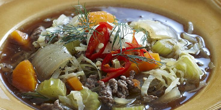 Recipe for Beef and Cabbage Soup