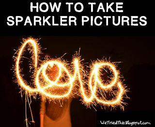 How to take sparkler pictures for the holidays! Really easy and fun.