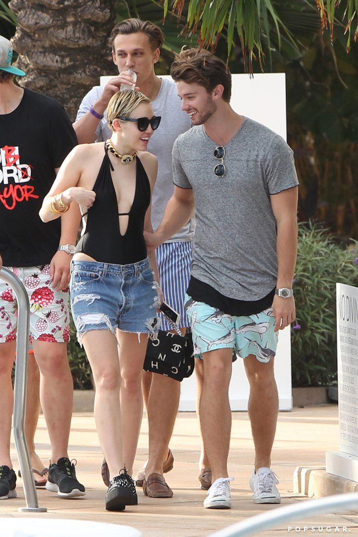 Pin for Later: Miley Cyrus and Patrick Schwarzenegger Heat Things Up Poolside in Miami