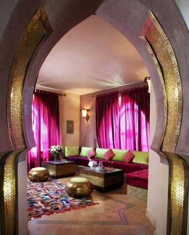 salon marocain - Decoration Orientale Moderne Salon